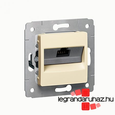 Legrand Cariva LCS2 1XRJ45 Cat6 UTP aljzat keret nélkül bézs 773741