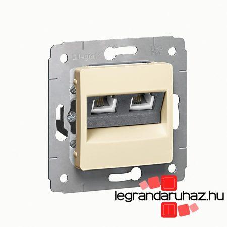 Legrand Cariva LCS2 2XRJ45 Cat6 UTP aljzat keret nélkül bézs 773742