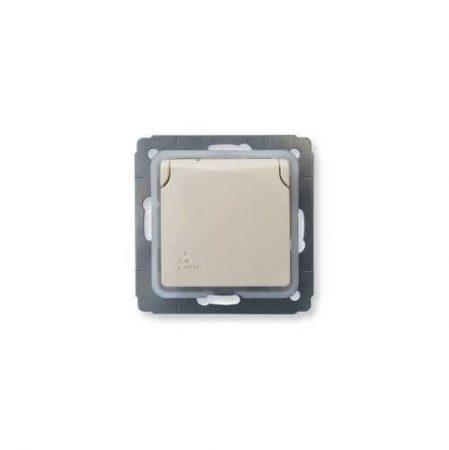 Legrand Cariva IP44 2P+F aljzat csapófedéllel, keret nélkül, bézs 773745