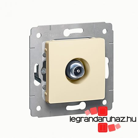 Legrand Cariva TV aljzat végzáró 1,5dB keret nélkül bézs 773778