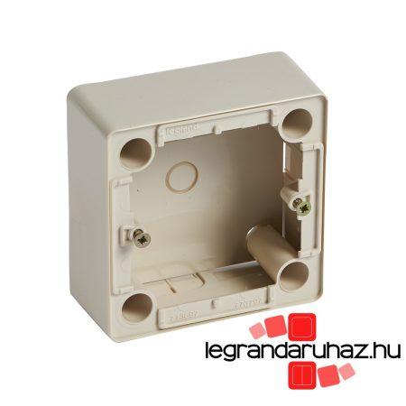 Legrand Cariva kiemelődoboz 2P+F aljzathoz, 36 mm mély, bézs 773797