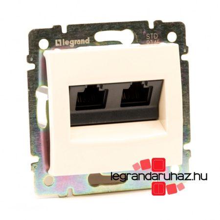 Legrand Valena 2XRJ45 LCS2 Cat6 STP informatikai csatlakozóaljzat, csavaros, elefántcsont 774145