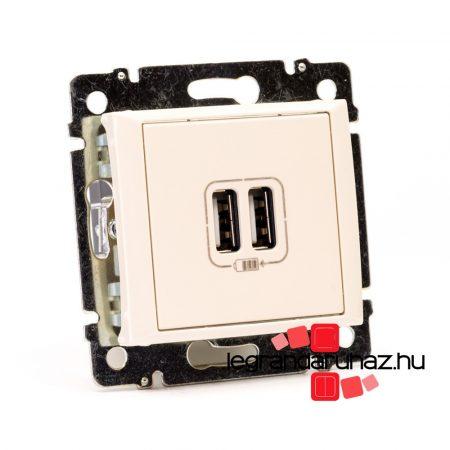 Legrand Valena 2 USB töltő aljzat, 1500 mA, elefántcsont 774170