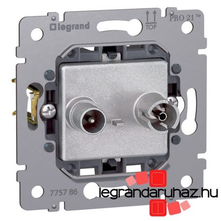 Legrand Galea Life TV-RD aljzat mechanizmus, végzáró, 10 dB 775787