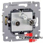 Legrand Galea Life TV-RD-SAT aljzat mechanizmus, végzáró, 1,5 dB 775789