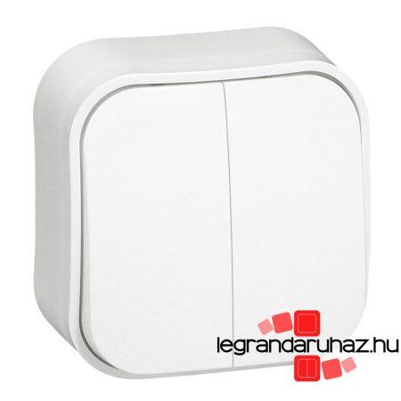 Legrand Forix IP20 falon kívüli kettős egypólusú kapcsoló, 10 AX - 250 V~ fehér 782402
