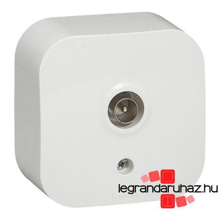 Legrand Forix IP20 falon kívüli TV antenna-csatlakozóaljzat, végzáró fehér 782415