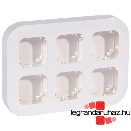 Legrand Forix IP20 fk 6-os munkaállomás, vízszintesen/függőlegesen felszerelhető, fehér 782496