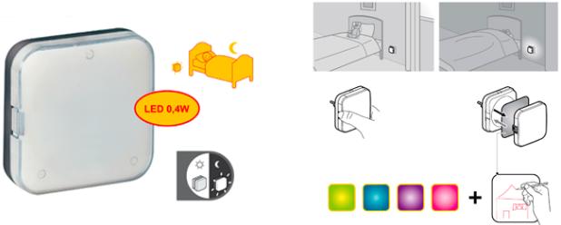 LED éjszakai jelzőfény fénylérzékelővel Legrand