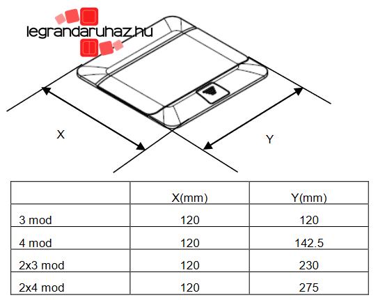 A legrand pop-up padlódobozok méretei