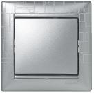 Legrand Valena Alumínium négyzetmintás keret