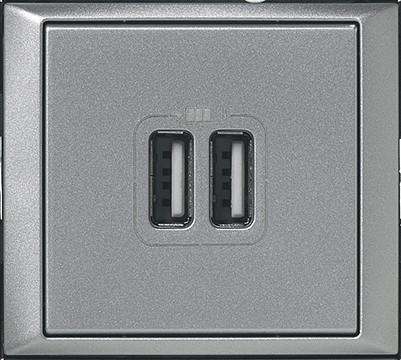 Valena 2_USB töltő aljzat, 1500 mA, alumínium