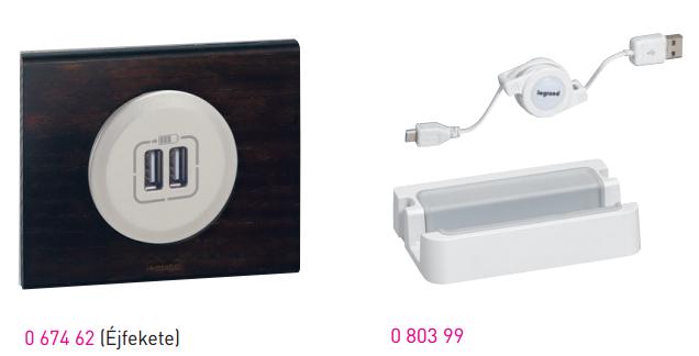 Legrand Céliane USB töltő aljzat